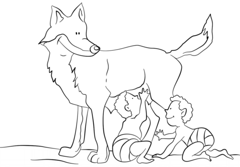 Romulus and Remus coloring page