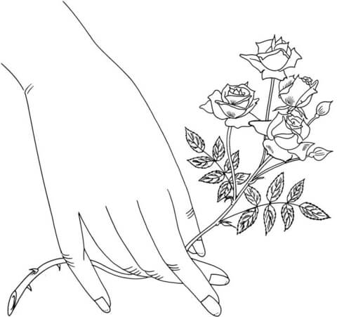 Starina Miniature Roses coloring page