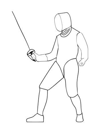 Handball Match Coloring Page Saber Fencing