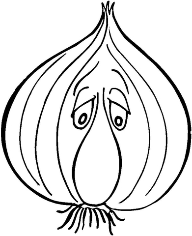 Sad Garlic  coloring page