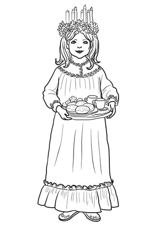 Saint Lucy Day coloring page