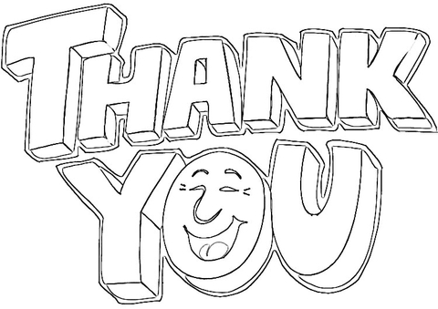 Saying Thank You  coloring page