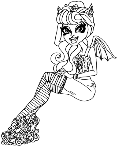 Monster High Rochelle Goyle Coloring Page Free Printable Coloring