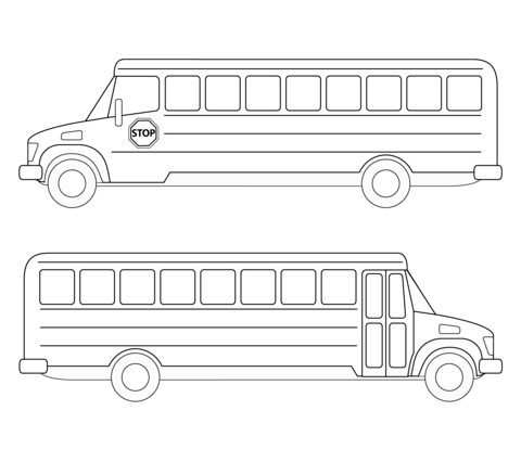 Simple Bus coloring page - Free Printable Coloring Pages