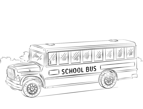 School Bus coloring page - Free Printable Coloring Pages