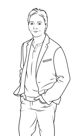 scott baio coloring page