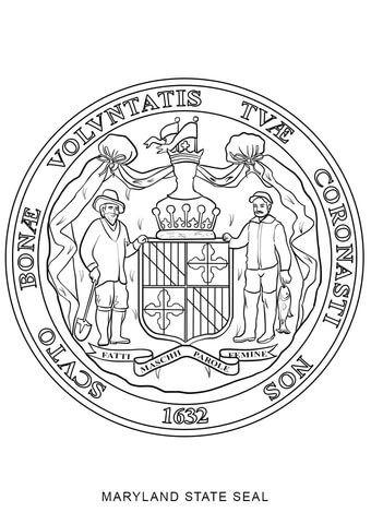 kansas state tree coloring page seal of maryland coloring page