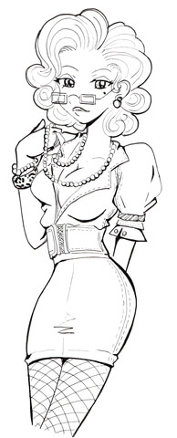 Secretary Girl coloring page