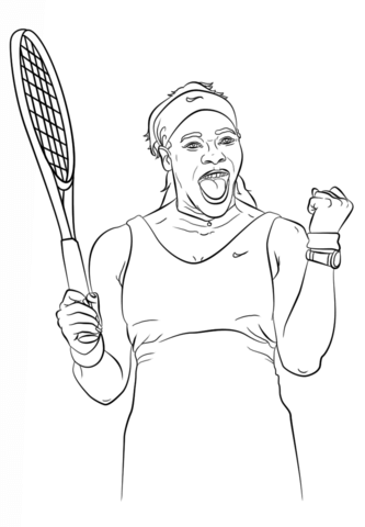 Serena Williams coloring page - Free Printable Coloring Pages