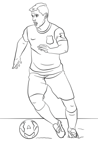 Top 9 Lionel Messi Coloring Sheets for Soccer Fans | Lionel messi ... | 480x333