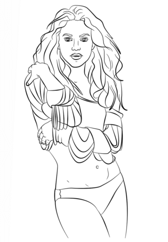 carrie underwood coloring page shakira coloring page