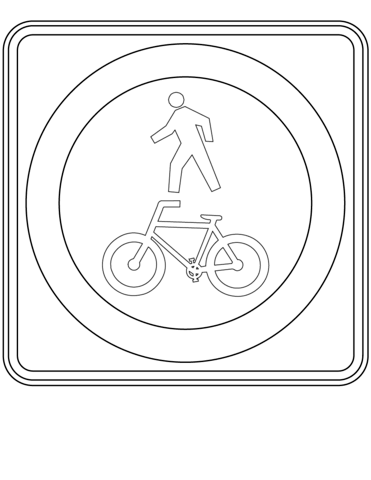 Shared Path coloring page
