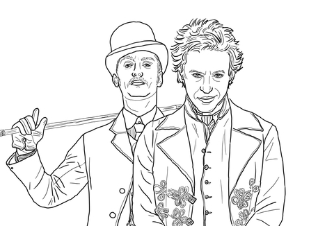 Sherlock Holmes a Game of Shadows coloring page
