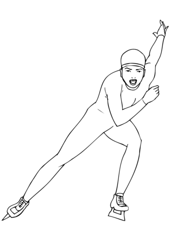 Short Track Speed Skating coloring page