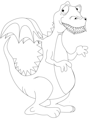 Shy Dragon coloring page