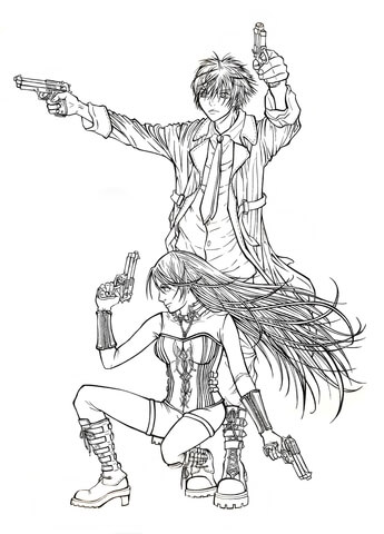 Tsukune Aono and Moka Akashiya from manga Rosario to Vampire ...