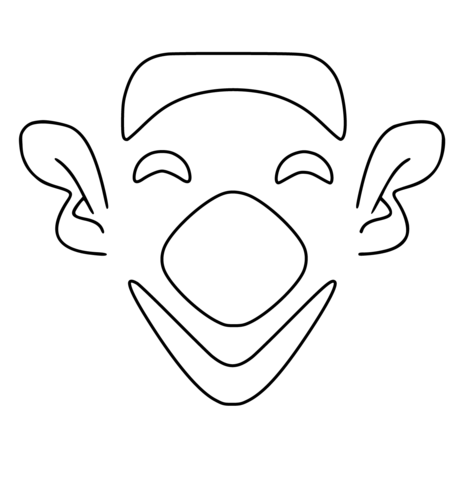 Simple Clown Face coloring page