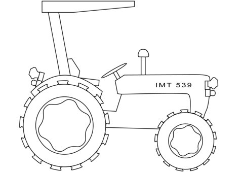 Tractor Kleurplaat Peuter Simple Tractor Coloring Page Free Printable Coloring Pages