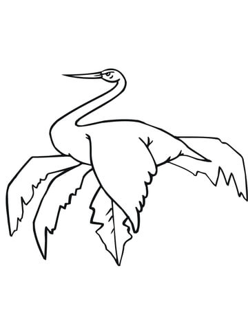 sitting stork coloring page free printable coloring pages