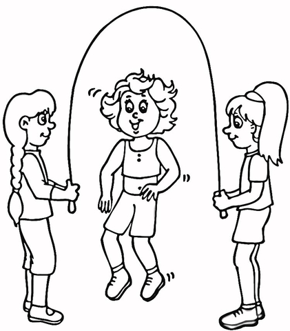 Skipping Rope  coloring page