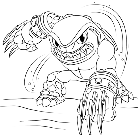Skylanders Giants Pop Fizz Coloring Page Free Printable Coloring Pages