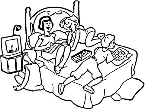 Sleepover  coloring page