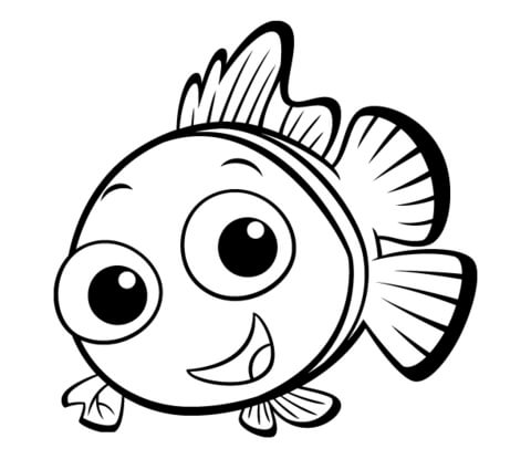 Small Fish coloring page