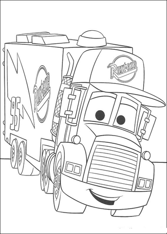 Mack coloring page
