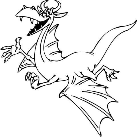 Smiling Dragon coloring page