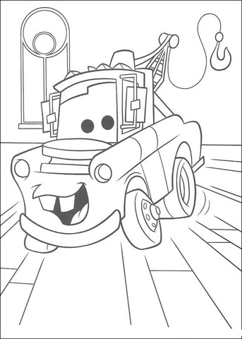 Mater Truck coloring page