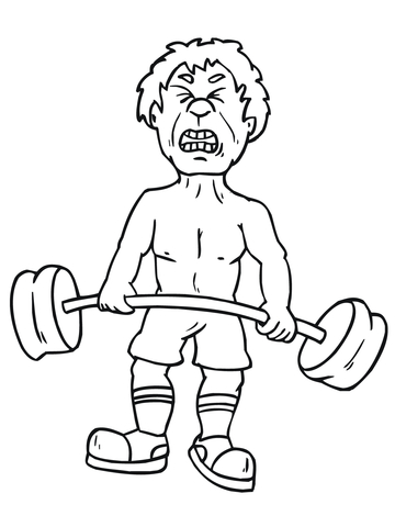 Snatch Weightlifting coloring page - Free Printable Coloring Pages