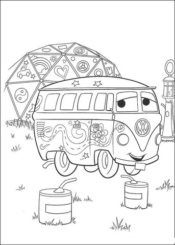 Shy Hippybus coloring page