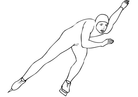 Speed Skating coloring page