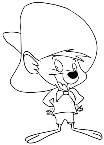Speedy Gonzales coloring page