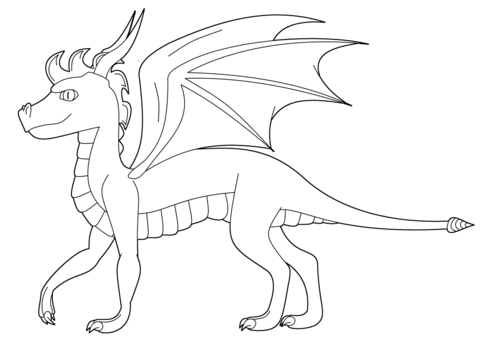 Spyro the Dragon coloring page