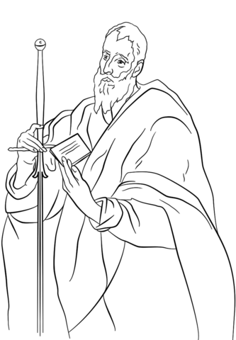 St Paul By El Greco Coloring Page
