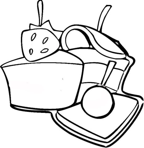 Strawberry Sweets  coloring page