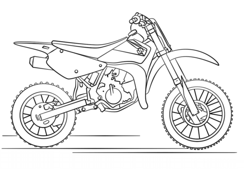 scooter coloring page suzuki dirt bike coloring page