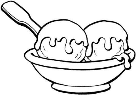 Sweet Ice Cream  coloring page