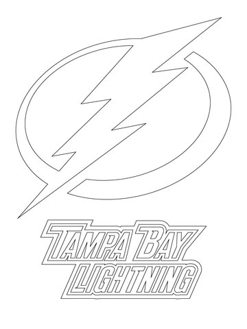 tampa bay lightning logo coloring page - Chicago Blackhawks Coloring Pages