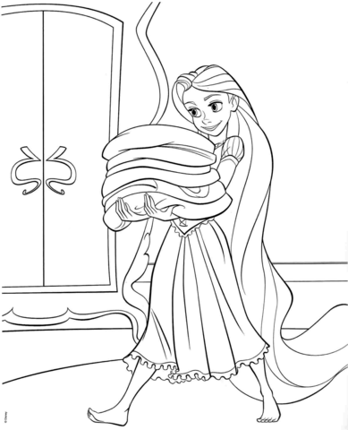 Rapunzel from Disney Tangled coloring page - Free Printable Coloring ...