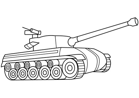 Military Tank Coloring Page