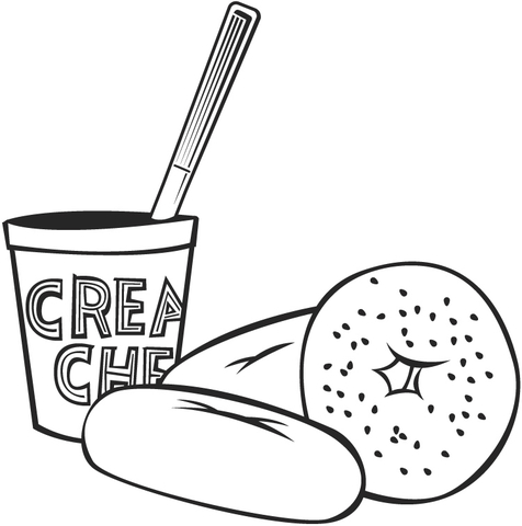 Tasty Breakfast  coloring page