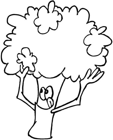 Tasty Broccoli  coloring page