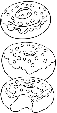 Tasty Donuts coloring page