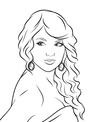 lady gaga coloring page taylor swift coloring page