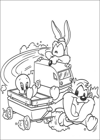 Taz Tweety Coyote  coloring page