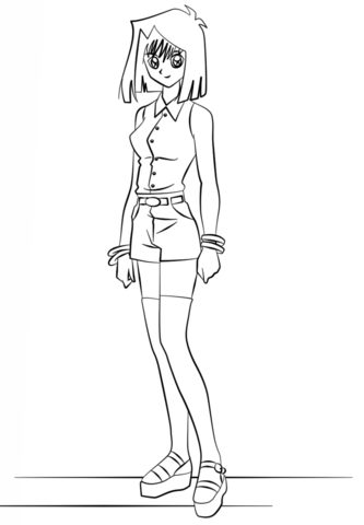 Tea Gardner from Yu-Gi-Oh! coloring page - Free Printable Coloring Pages