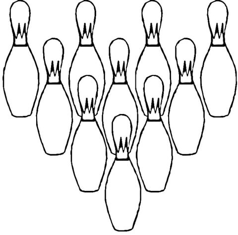 Ten Pins  coloring page