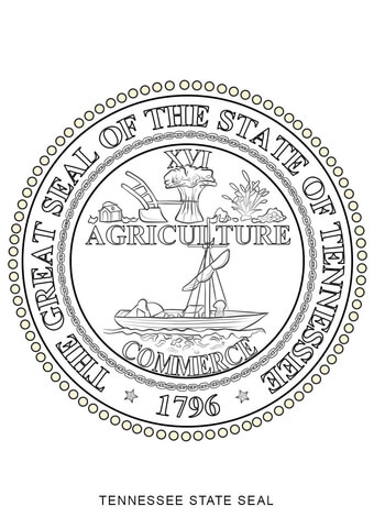 Tennessee State Seal Coloring Page Free Printable Coloring Pages